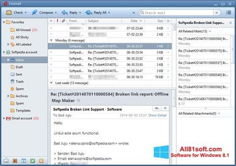 Skjermbilde FoxMail Windows 8.1