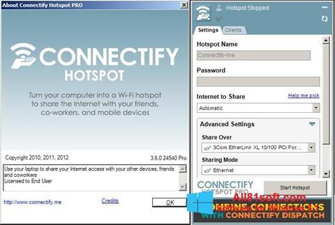Skjermbilde Connectify Windows 8.1