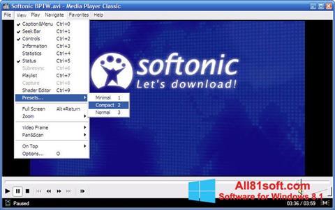 Skjermbilde Media Player Classic Windows 8.1