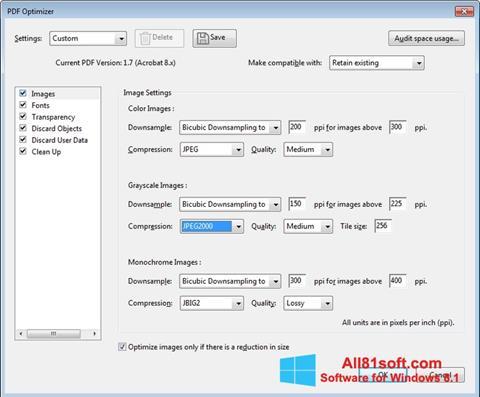 Skjermbilde Adobe Acrobat Pro DC Windows 8.1