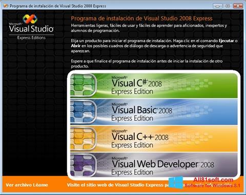 Skjermbilde Microsoft Visual Studio Windows 8.1