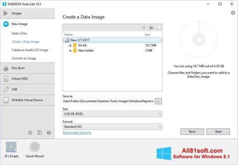 Skjermbilde DAEMON Tools Lite Windows 8.1