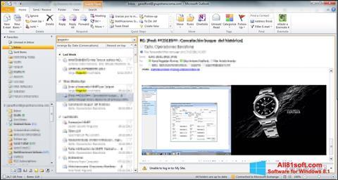 Skjermbilde Microsoft Outlook Windows 8.1