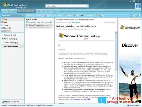 Skjermbilde Windows Live Mail Windows 8.1
