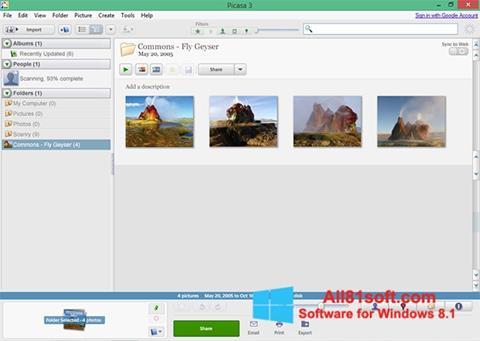 Skjermbilde Picasa Windows 8.1