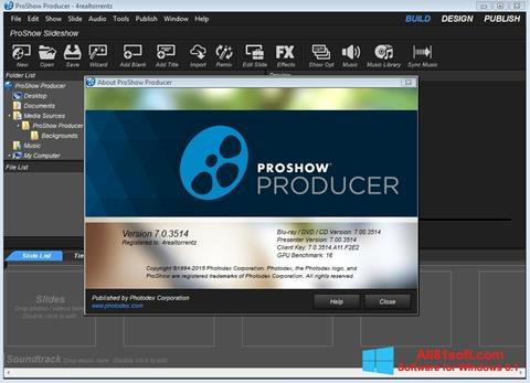 Skjermbilde ProShow Producer Windows 8.1