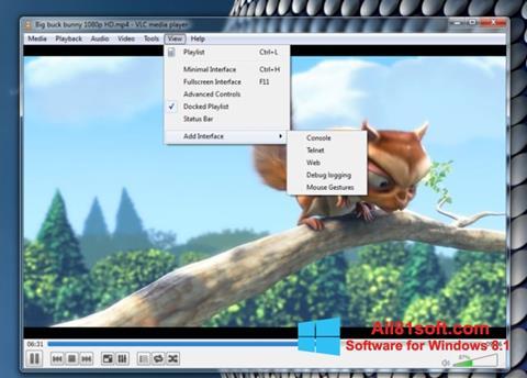 Skjermbilde VLC Media Player Windows 8.1