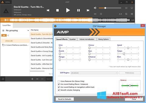 Skjermbilde AIMP Windows 8.1
