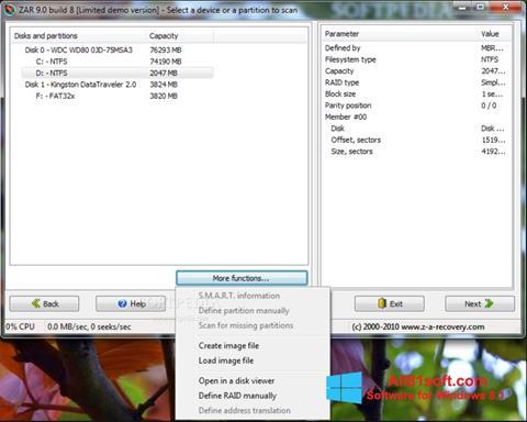 Skjermbilde Zero Assumption Recovery Windows 8.1