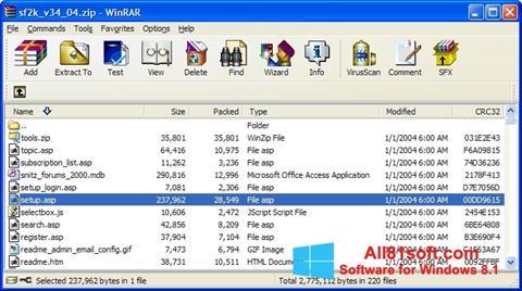 Skjermbilde WinRAR Windows 8.1