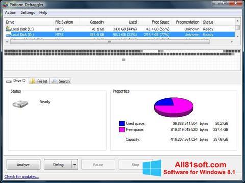 Skjermbilde Defraggler Windows 8.1